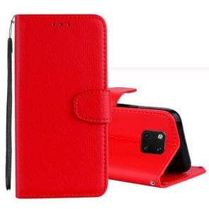 Litchi Texture Horizontal Flip Leather Case for Huawei Mate 20 Pro , with Holder & Card Slots & Wallet & Lanyard (Red)