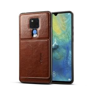 Dibase TPU + PC + PU Crazy Horse Texture Protective Case for Huawei Mate 20 X, with Holder & Card Slots (Coffee)