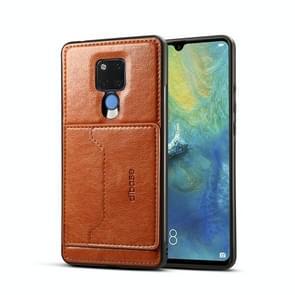 Dibase TPU + PC + PU Crazy Horse textuur beschermende case voor Huawei mate 20 X  met houder & kaartsleuven (bruin)