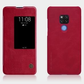 NILLKIN Crazy Horse Texture Horizontal Flip Leather Case for Huawei Mate 20 X , with Card Slot (Red)