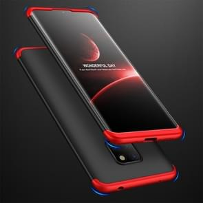 GKK Three Stage Splicing Full Coverage PC Case for Huawei Mate 20 (Black Red)