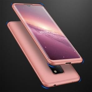 GKK drie fase splicing volledige dekking PC Case voor Huawei mate 20 (Rose goud)