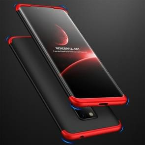 GKK Three Stage Splicing Full Coverage PC Case for Huawei Mate 20 Pro (Black Red)