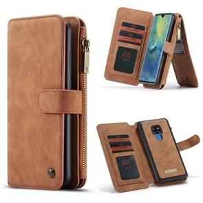 CaseMe Crazy Horse Texture Detachable Horizontal Flip PU Leather Case for Huawei Mate 20, with Card Slot & Holder & Zipper Wallet & Photo Frame (Brown)