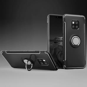 Magnetic 360 Degree Rotation Ring Holder Armor Protective Case for Huawei Mate 20 Pro(Black)
