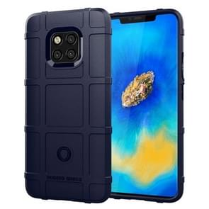 Shockproof Full Coverage Silicone Case for Huawei Mate 20 Pro Protector Cover (Dark Blue)