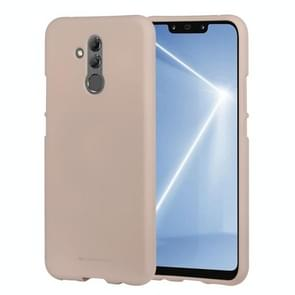 MERCURY GOOSPERY SOFT FEELING Solid Color Dropproof TPU Protective Case for Huawei Mate 20 Lite(Gold)