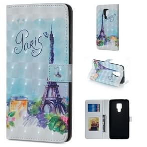 Tower Pattern Horizontal Flip Leather Case for Huawei Mate 20 X, with Holder & Card Slots & Photo Frame & Wallet