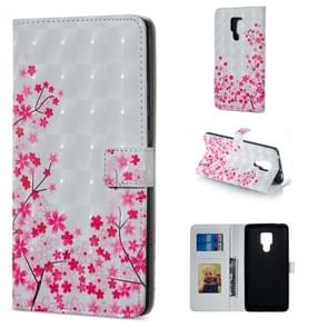 Sakura Pattern Horizontal Flip Leather Case for Huawei Mate 20 X, with Holder & Card Slots & Photo Frame & Wallet