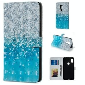 Sea and Sand Pattern Horizontal Flip Leather Case for Huawei Mate 20 X, with Holder & Card Slots & Photo Frame & Wallet