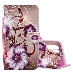 Lotus Pattern Horizontal Flip Leather Case for Huawei P30 Pro, with Holder & Card Slots & Wallet