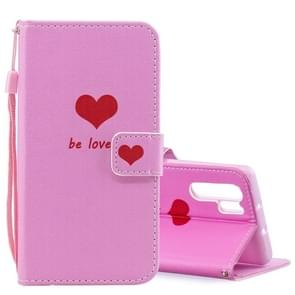 Heart Pattern Horizontal Flip Leather Case for Huawei P30 Pro, with Holder & Card Slots & Wallet