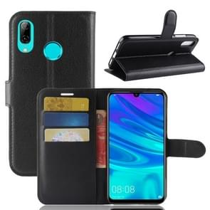 Litchi Texture Horizontal Flip Leather Case for Huawei P30 Lite, with Wallet & Holder & Card Slots (Black)