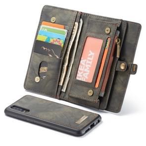 CaseMe Detachable Multifunctional Horizontal Flip Leather Case for Huawei P30, with Card Slot & Holder & Zipper Wallet & Photo Frame(Black)
