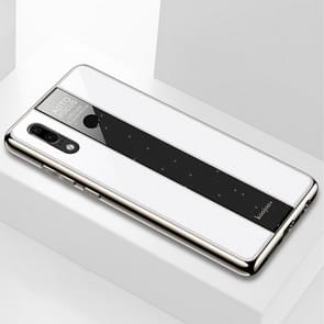 Electroplated Mirror Glass Case for Huawei P30 Lite(White)