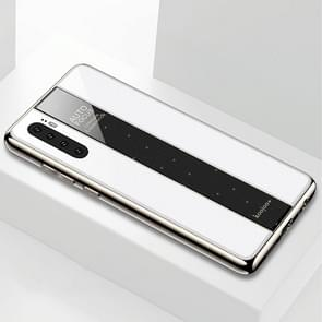Electroplated Mirror Glass Case for Huawei P30 Pro(White)