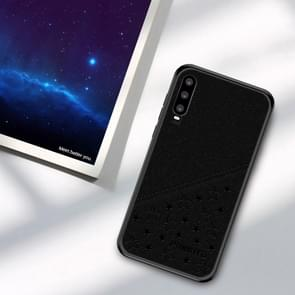 PINWUYO Full Coverage Waterproof Shockproof PC+TPU+PU Case for Huawei P30 (Black)