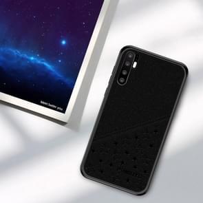 PINWUYO Full Coverage Waterproof Shockproof PC+TPU+PU Case for Huawei P30 Pro (Black)