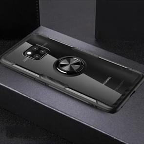 Krasvast TPU + acryl ring beugel beschermhoes voor Huawei mate 20 Pro (zwart)
