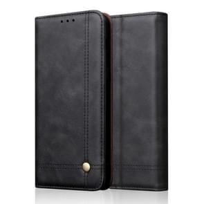 Casual Style Retro Crazy Horse Texture Horizontal Flip Leather Case for Huawei P30, with Card Slots & Holder & Wallet (Black)