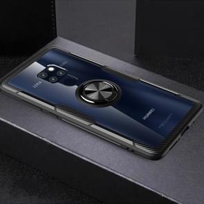 Krasvast TPU + acryl ring beugel beschermhoes voor Huawei mate 20 (zwart)