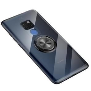 Ultra-dunne TPU beschermhoes voor Huawei mate 20  met 360 graden rotatie houder (zwart)