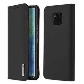 DUX DUCIS WISH Series TPU + PU + lederen case voor Huawei mate 20 Pro  met kaartsleuven & portemonnee (zwart)