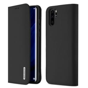DUX DUCIS WISH Series TPU + PU + Leather Case for Huawei P30 Pro, with Card Slots & Wallet(Black)