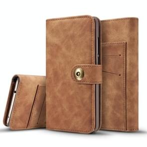 Retro Magnetic Detachable Horizontal Flip Leather Case for Huawei P30, with Card Slots & Wallet & Photo Frame (Brown)