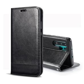 Double-sided Absorption Splicing Horizontal Flip Leather Case for Huawei P30 Pro, with Holder & Card Slots & Lanyard (Black)