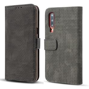 Mesh Breathable Horizontal Flip Leather Case for Huawei P30, with Card Slot & Holder & Wallet & Photo Frame (Black)