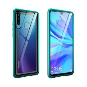 Arc Series Metal Frame + Tempered Glass Protective Case for Huawei P30 lite / nova 4e(Green)