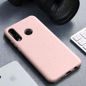 Starry Series Shockproof  Straw Material + TPU Protective Case for Huawei P30 Lite (Pink)