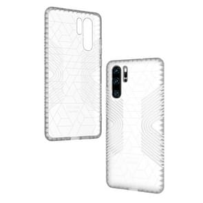 Anti-slip Frosted Transparent Full Coverage Case for Huawei P30 Pro (White)