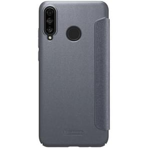 NILLKIN Frosted Texture Horizontal Flip Leather Case for Huawei P30 Lite / Nova 4e (Grey)