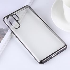 Ultra-thin Electroplating Soft TPU Protective Back Cover Case for Huawei P30 Pro (Black)