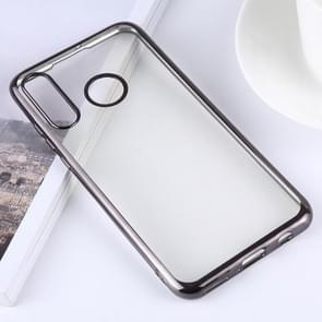 Ultra-thin Electroplating Soft TPU Protective Back Cover Case for Huawei P30 Lite (Black)