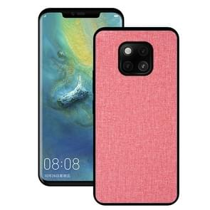 Shockproof Cloth Texture PC+ TPU Protective Case for Huawei Mate 20 Pro (Pink)