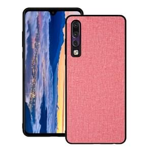 Shockproof Cloth Texture PC+ TPU Protective Case for Huawei P30 (Pink)