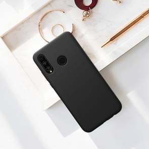 NILLKIN Liquid Silicone Shockproof Soft Case for Huawei P30 Lite & Nova 4e (Black)