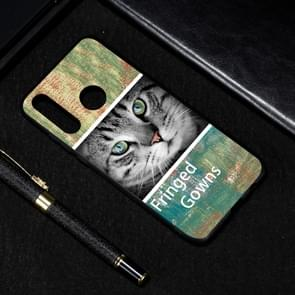 Cat Painted Pattern Soft TPU Case for Huawei P30 Lite
