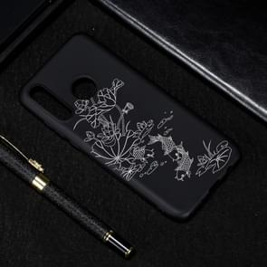 Lotus Pond Painted Pattern Soft TPU Case for Huawei P30 Lite