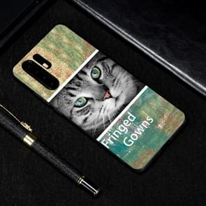 Cat Painted Pattern Soft TPU Case for Huawei P30 Pro