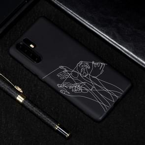 Vijf handen geschilderd patroon zachte TPU geval voor Huawei P30 Pro