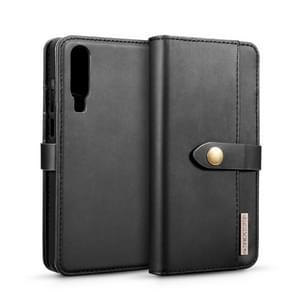DG. MING Lambskin afneembaar horizontaal flip magnetische geval voor Huawei P30  met houder & kaartsleuven & portemonnee (zwart)
