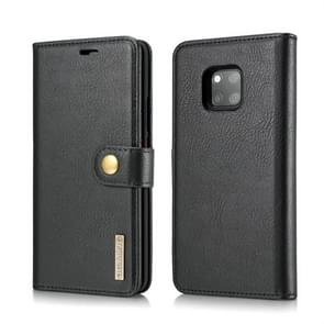 DG.MING Crazy Horse Texture Flip Detachable Magnetic Leather Case for Huawei Mate 20 Pro, with Holder & Card Slots & Wallet (Black)