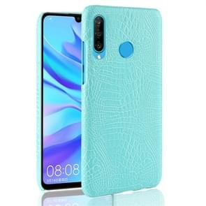 Shockproof Crocodile Texture PC + PU Protective Case for Huawei P30 Lite (Green)