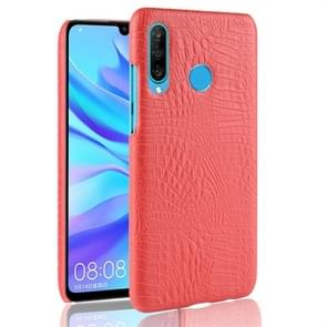 Shockproof Crocodile Texture PC + PU Protective Case for Huawei P30 Lite (Red)