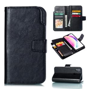 Multifunctional Litchi Texture Horizontal Flip Leather Case for Huawei P20 Lite, with Card Slot & Holder & Wallet(Black)