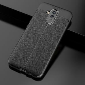 Litchi Texture TPU Shockproof Case for Huawei Mate 20 Lite (Black)